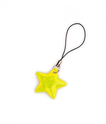 Tiretto per cerniere riflettente, raffigurante stella gialla