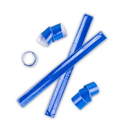 Nastro retrattile riflettente ( snap band ) blu.