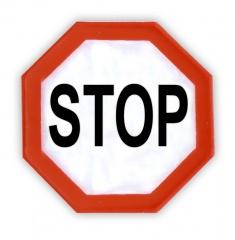 Adesivo riflettente STOP, una confezione da 5 pz