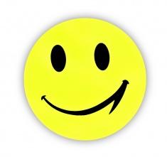 Adesivo riflettente smiley grande, confezione da 5 pz