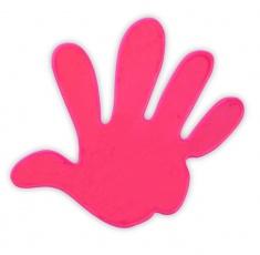 Adesivo riflettente MANO di colore rosa confezione da 5 pz