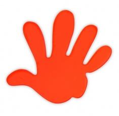Adesivo riflettente MANO di colore arancio confezione da 5 pz
