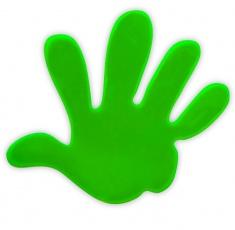 Adesivo riflettente MANO di colore verde confezione da 5 pz
