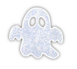 Adesivo riflettente fantasma, confezione da 5pz