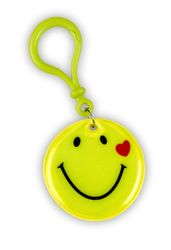 Ciondolo riflettente smiley giallo