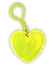 Ciondolo riflettente cuore giallo