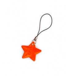 Tiretto per cerniere riflettente, raffigurante stella arancio