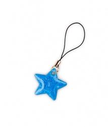 Tiretto per cerniere riflettente, raffigurante stella blu