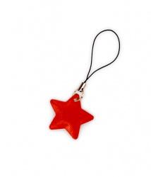 Tiretto per cerniere riflettente, raffigurante stella rossa