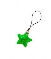 Tiretto per cerniere riflettente, raffigurante stella verde