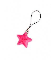 Tiretto per cerniere riflettente, raffigurante stella rosa