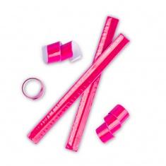 Nastro retrattile riflettente ( snap band ) rosa.
