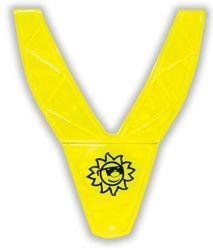 Giubbotto riflettente in PVC per bambino di colore giallo
